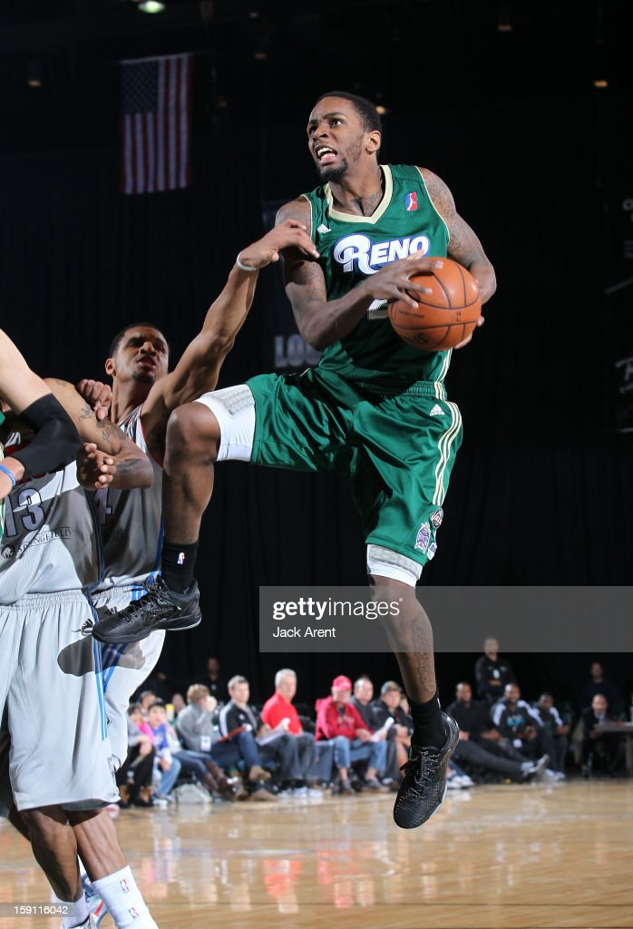 Kevin Murphy #21 of the Reno Bighorns shoots the ball against the Springfield Armor during the 2013 NBA D-League Showcase on January 7, 2013 at the Reno Events Center in Reno, Nevada.