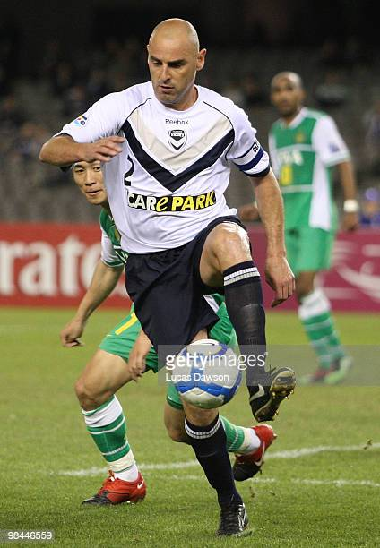 Kevin Muscat of the Victory controls the ball during the AFC Champions League group E match between Melbourne Victory and Beijing at Etihad Stadium...