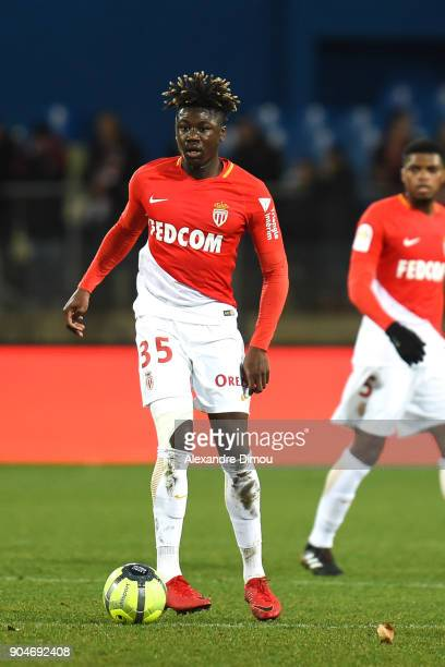 Kevin N Doram of Monaco during the Ligue 1 match between Montpellier and Monaco at Stade de la Mosson on January 13 2018 in Montpellier France