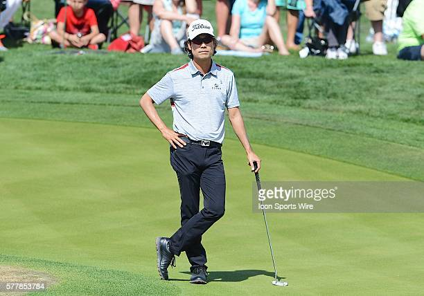 Kevin Na during the 2014 Valero Texas Open at the TPC San Antonio.