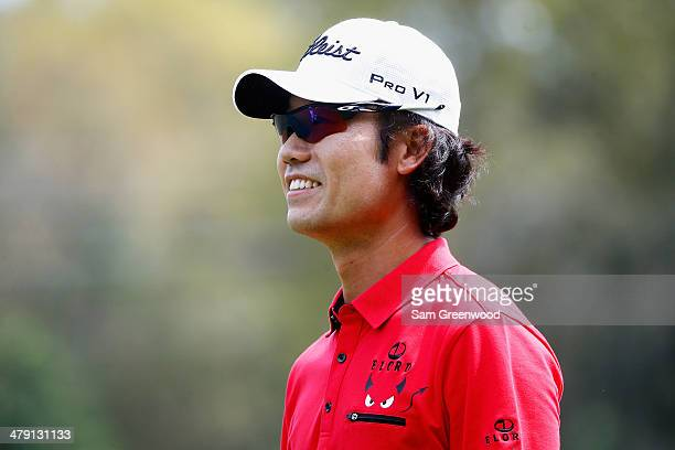 Kevin Na of South Korea looks on from the 2nd hole during the final round of the Valspar Championship at Innisbrook Resort and Golf Club on March 16...