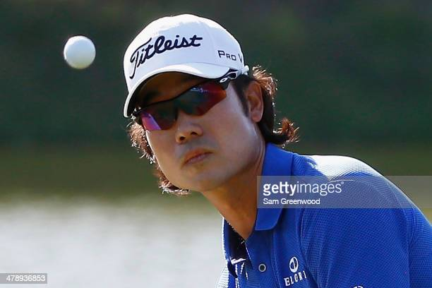 Kevin Na of South Korea plays a shot on the 13th hole during the third round of the Valspar Championship at Innisbrook Resort and Golf Club on March...