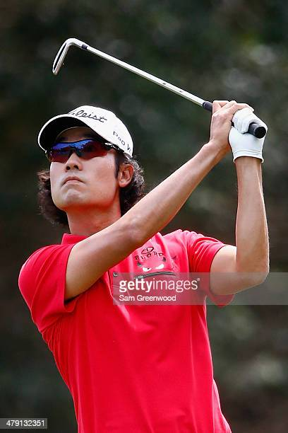 Kevin Na of South Korea plays a shot on the 2nd hole during the final round of the Valspar Championship at Innisbrook Resort and Golf Club on March...