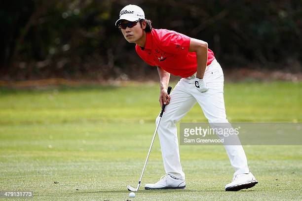 Kevin Na of South Korea watches his shot on the 2nd fareway during the final round of the Valspar Championship at Innisbrook Resort and Golf Club on...