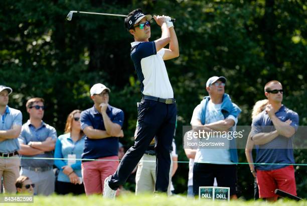 Kevin Na, of the United States, during the final round of the Dell Technologies Championship on September 4 at TPC Boston in Norton, Massachusetts.