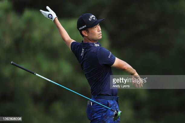 Kevin Na of the United States plays his shot from the 17th tee during the first round of the World Golf ChampionshipFedEx St Jude Invitational at TPC...