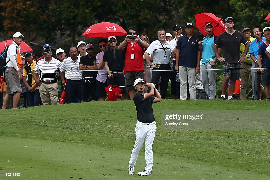 Kevin Na of the United States plays on the 7th hole during round four of the CIMB Classic at Kuala Lumpur Golf & Country Club on November 1, 2015 in Kuala Lumpur, Malaysia.