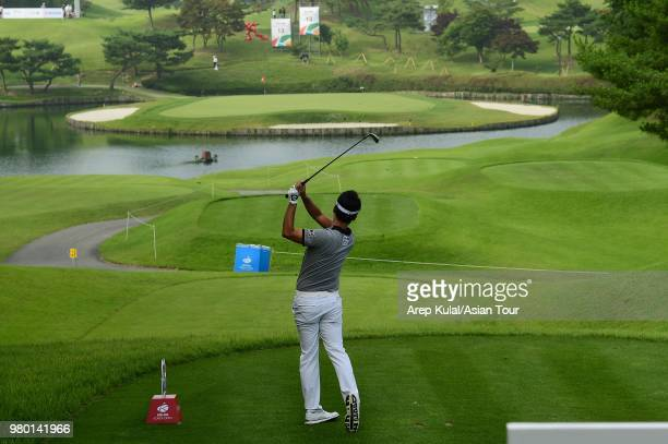 Kevin Na of USA pictured during round one of the Kolon Korea Open Golf Championship at Woo Jeong Hills Country Club on June 21 2018 in Cheonan South...