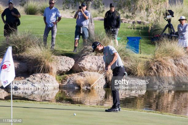 Kevin Na putts during the first round of the Shriners Hospitals for Children Open on October 3, 2019 at TPC Summerlin in Las Vegas, NV.