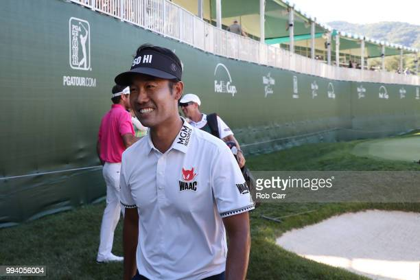 Kevin Na smiles shortly after winning the tournament during the final round of A Military Tribute At The Greenbrier held at the Old White TPC course...