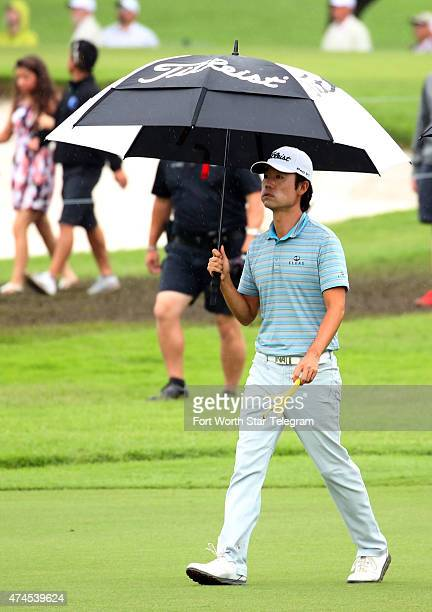 Kevin Na walks on the 7th fairway during the third round of the Crowne Plaza Invitational at the Colonial in Fort Worth, Texas, on Saturday, May 23,...