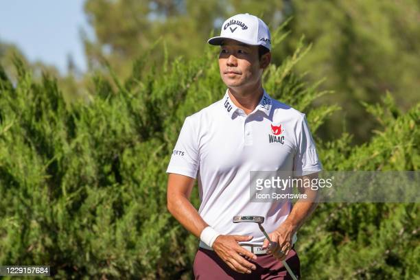 Kevin Na walks to the fifth hole during the third round of The CJ Cup at Shadow Creek on October 17, 2020 in Las Vegas, NV
