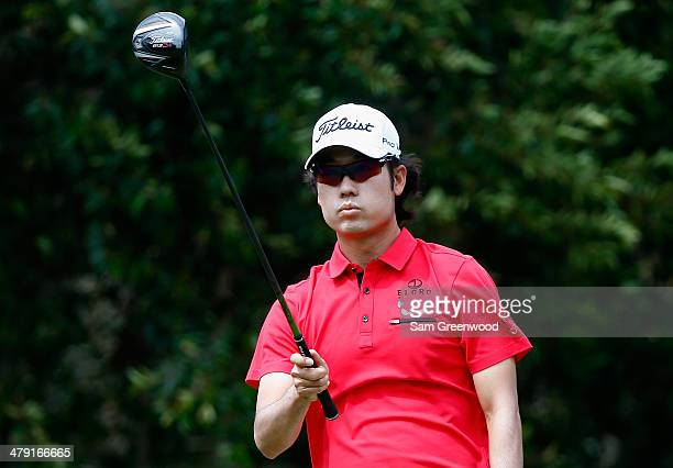 Kevin Na watches his tee shot on the 5th hole during the final round of the Valspar Championship at Innisbrook Resort and Golf Club on March 16 2014...