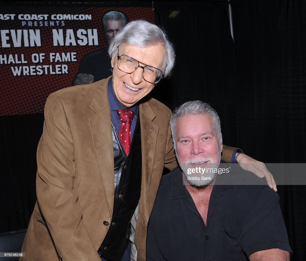Kevin Nash and The Amazing Kreskin attend the 2017 East Coast Comic Con at Meadowlands Exposition Center on April 30, 2017 in Secaucus, New Jersey.