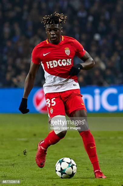 Kevin N'Doram of AS Monaco in action during the UEFA Champions League group G match between FC Porto and AS Monaco at Estadio do Dragao on December 6...