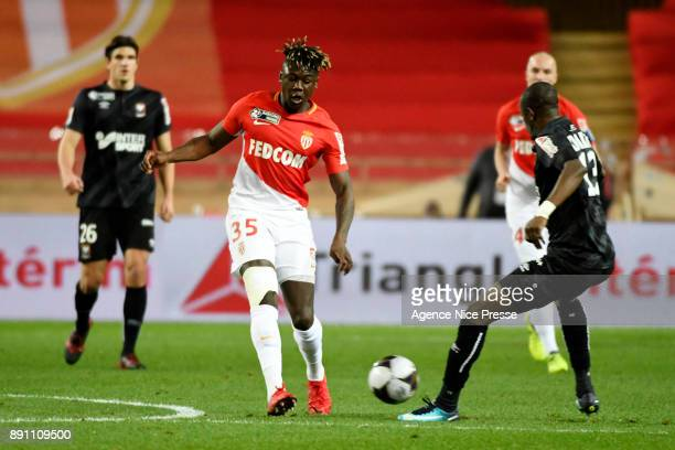 Kevin Ndoram of Monaco during the french League Cup match Round of 16 between Monaco and Caen on December 12 2017 in Monaco Monaco