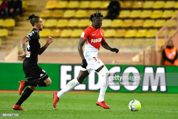 Kevin Ndoram of Monaco during the Ligue 1 match between AS Monaco and Angers SCO at Stade Louis II on December 2 2017 in Monaco