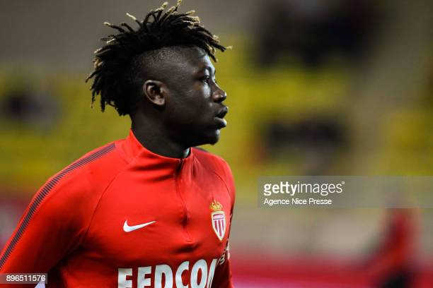 Kevin Ndoram of Monaco during the Ligue 1 match between AS Monaco and Stade Rennais at Stade Louis II on December 20 2017 in Monaco