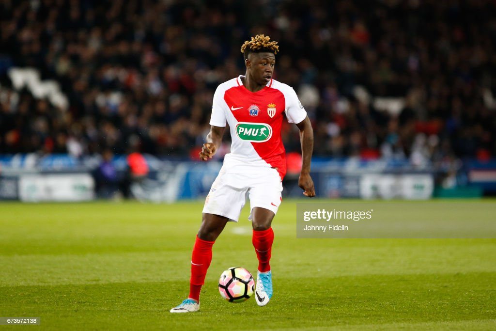 Kevin N'Doram of Monaco during the Semi final of the French Cup ...