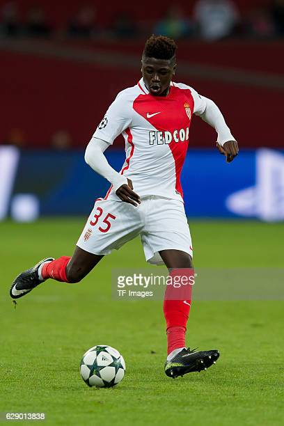 Kevin N'Doram of Monaco in action during the UEFA Champions League match between Bayer Leverkusen and AS Monaco at the BayArena in Leverkusen Germany...