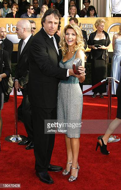 Kevin Nealon and his wife Susan Yeagley arrive at the 15th Annual Screen Actors Guild Awards at the Shrine Auditorium on January 25 2009 in Los...