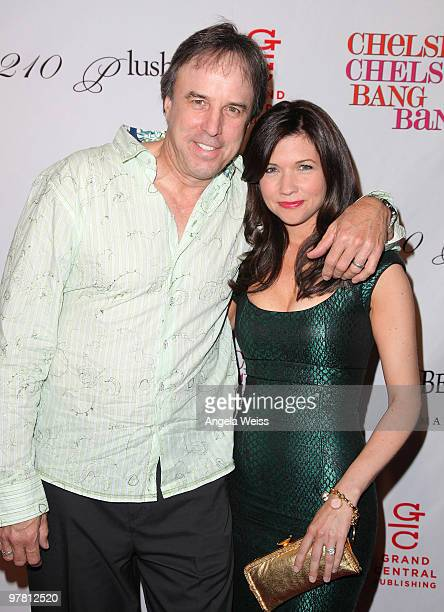 Kevin Nealon and his wife Susan Yeagley attend Chelsea Handler's book party for 'Chelsea Chelsea Bang Bang' at Bar 210/Plush at the Beverly Hilton...