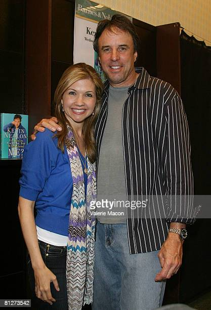 Kevin Nealon and his wife Susan Yeagley pose for a photo at a promotion for his book Yes You're Pregnant But What about Me at the Barnes and Noble...