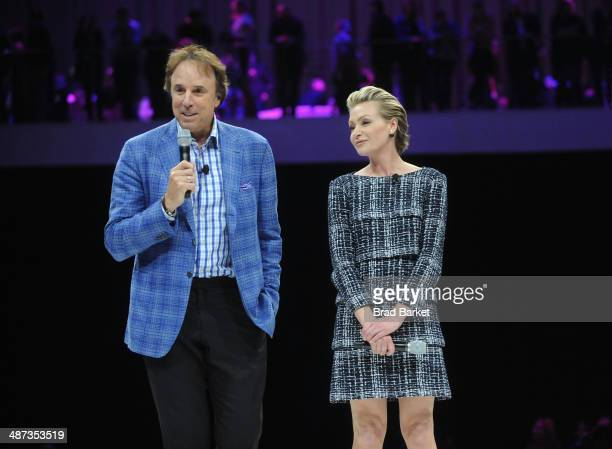 Kevin Nealon and Portia de Rossi speak onstage at the 2014 AOL NewFronts at Duggal Greenhouse on April 29, 2014 in New York, New York.