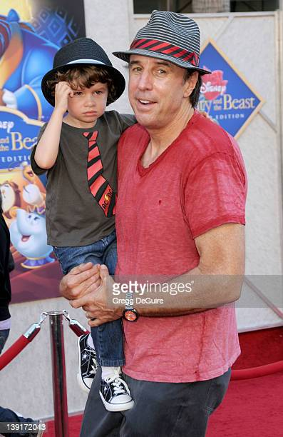 Kevin Nealon and son Gable Ness Nealon arrive at the SingALong Premiere of Beauty and the Beast at El Capitan Theatre on October 2 2010 in Hollywood...