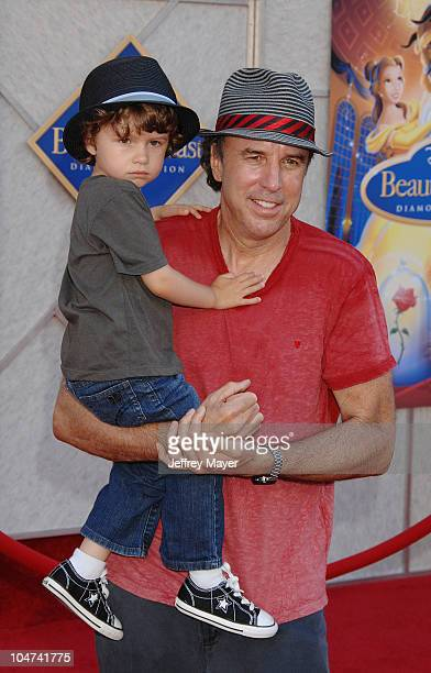 Kevin Nealon and son Gable Ness Nealon arrive at Walt Disney Studios Beauty and The Beast SingAlong at the El Capitan Theatre on October 2 2010 in...