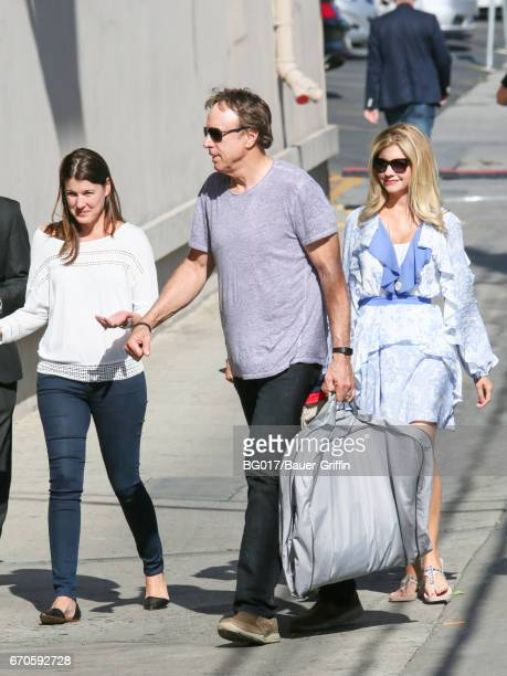 Kevin Nealon and Susan Yeagley are seen at 'Jimmy Kimmel Live' Show on April 19 2017 in Los Angeles California