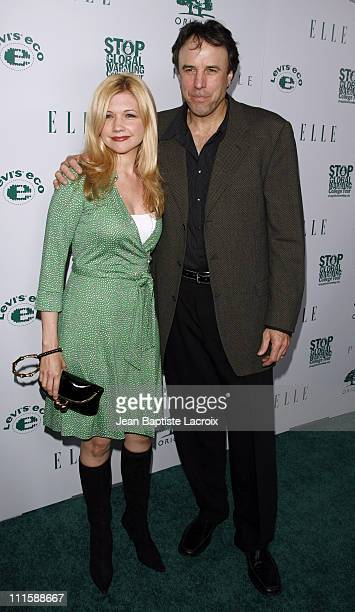 Kevin Nealon and Susan Yeagley during ELLE Green Issue Launch Party Arrivals at Boulevard 3 in Hollywood California United States