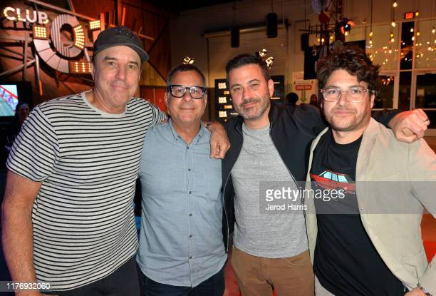 Kevin Nealon Kent Alterman Jimmy Kimmel and Adam Pally attend the Crank Yankers 2019 Premiere Party at Two Bit Circus on September 24 2019 in Los...