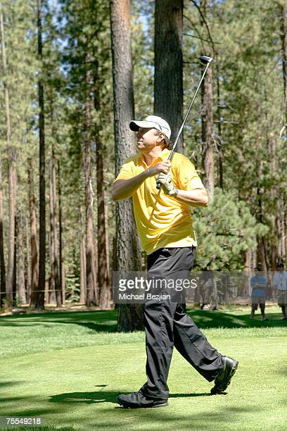 Kevin Nealon plays in the American Century Championship Golf Tournament at the Edgewood Tahoe Golf Course in Lake Tahoe Nevada on July 14 2007