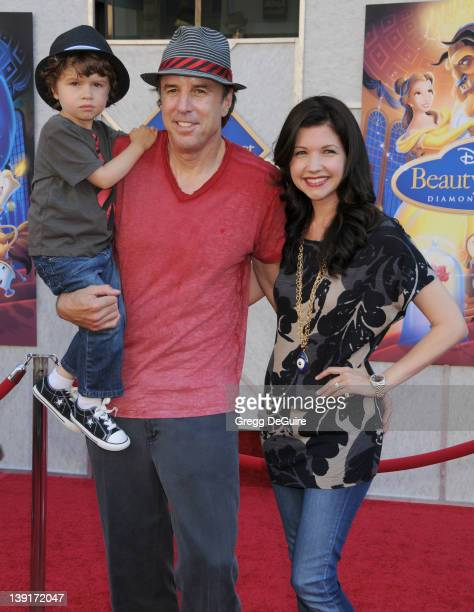 Kevin Nealon son Gable Ness Nealon and Susan Yeagley arrive at the SingALong Premiere of Beauty and the Beast at El Capitan Theatre on October 2 2010...