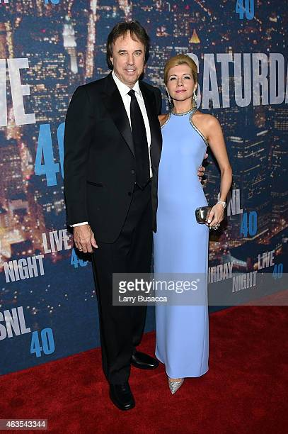 Kevin Nealon Susan Yeagley attend SNL 40th Anniversary Celebration at Rockefeller Plaza on February 15 2015 in New York City