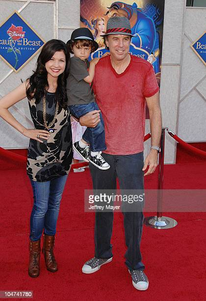 Kevin Nealon wife Susan Yeagley and son Gable Ness Nealon arrive at Walt Disney Studios Beauty and The Beast SingAlong at the El Capitan Theatre on...
