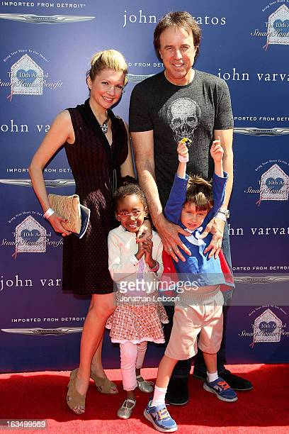 Kevin Nealon with wife and childre attend the John Varvatos 10th Annual Stuart House Benefit at John Varvatos Los Angeles on March 10 2013 in Los...