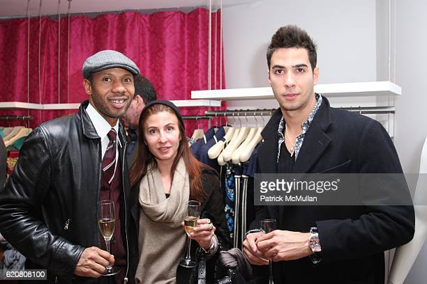 Kevin Nobel Margherita DeValenzuela and Javier Gomez attend TRACY REESE Secret Garden Party at Tracy Reese Boutique on March 27 2008 in New York City