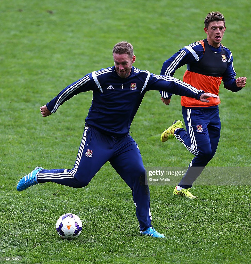 Kevin Nolan during a West Ham United training session at North Harbour Stadium on July 20, 2014 in Auckland, New Zealand.