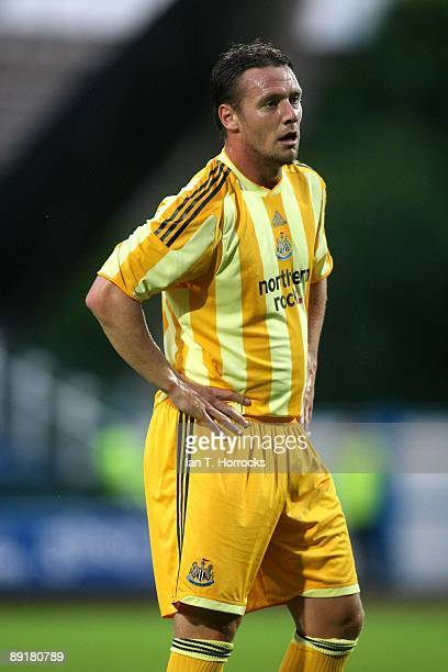 Kevin Nolan in action during a preseason friendly match between Huddersfield Town and Newcastle United at the Galpharm Stadium on July 21 2009 in...