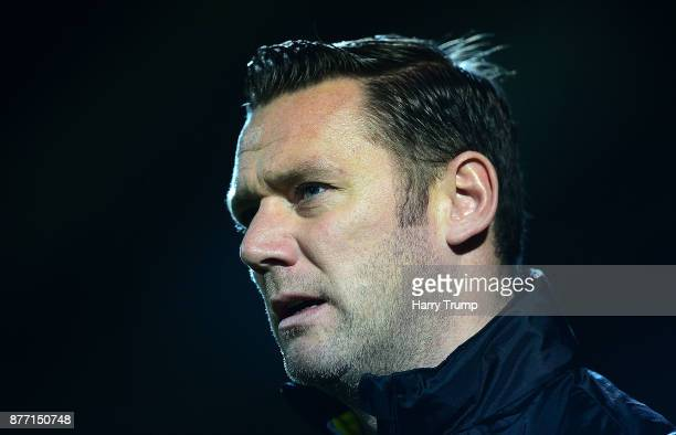 Kevin Nolan Manager of Notts County during the Sky Bet League Two match between Yeovil Town and Notts County at Huish Park on November 21 2017 in...
