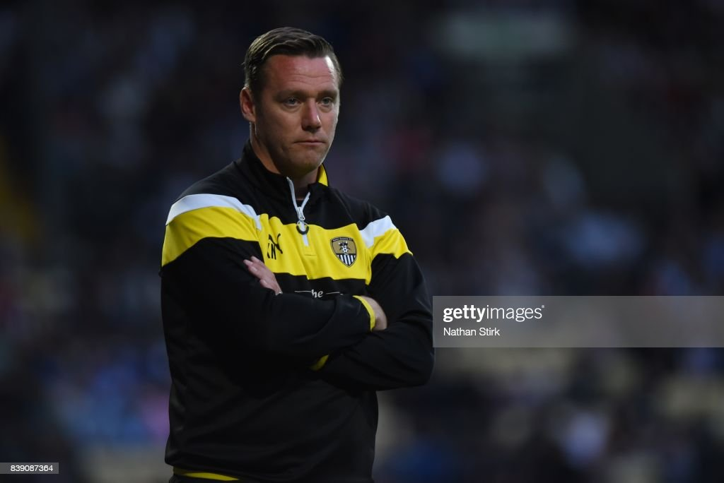 Kevin Nolan manager of Notts County looks on during the Sky Bet League Two match between Notts County and Accrington Stanley at Meadow Lane on August 25, 2017 in Nottingham, England.