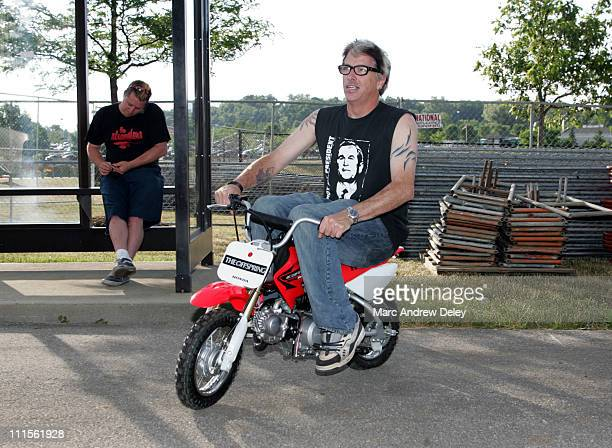 Kevin Noodles Wasserman of The Offspring during 2005 Vans Warped Tour Columbus Backstage at Germain Amphitheatre in Columbus Ohio United States