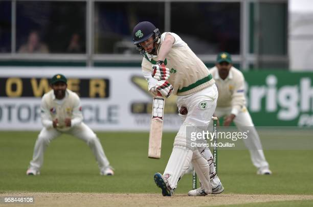 Kevin O'Brien of Ireland during the fourth day of the international test cricket match between Ireland and Pakistan on May 14 2018 in Malahide Ireland