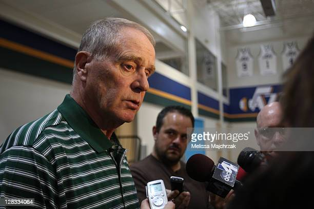 Kevin O'Conner General Manager of the Utah Jazz during a press conference announcing their new coaching staff at Zions Basketball Center on October...