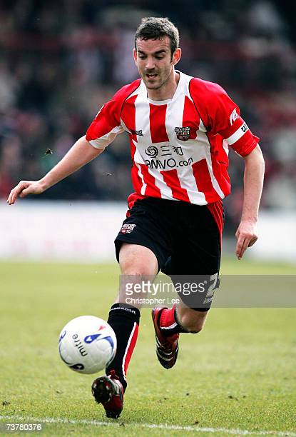 Kevin O'Connor of Brentford in action during the CocaCola League One match between Brentford and Oldham Athletic at Griffin Park on March 25 2007 in...