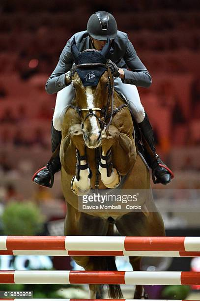 Kevin of France rides Reveur de Hurtebise HDC during the Grand Prix Longines FEI World Cup by GL Events at in the EQUITA Lyon France Photo by Davide...