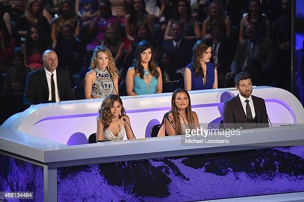 Kevin O'Leary Amy Purdy Danica McKellar Taya Kyle Zendaya Vanessa L Williams and Brett Eldredge attend the 2016 Miss America Competition at Boardwalk...