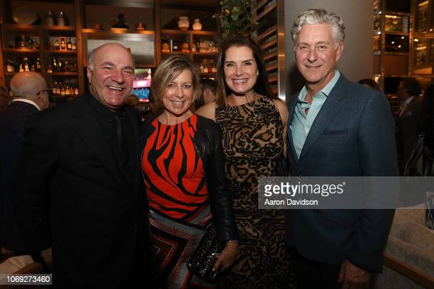 Kevin O'Leary Linda O'Leary Brooke Shields and David Krantz attends Art Miami 2018 Lifetime Visionary Award Dinner Honoring Dennis Debra Scholl at...
